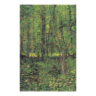 Trees & Undergrowth by Van Gogh Stationery