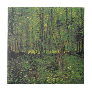 Trees & Undergrowth by Van Gogh Tile