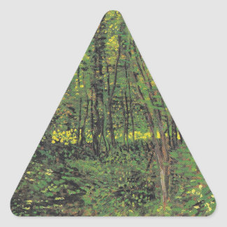 Trees & Undergrowth by Van Gogh Triangle Sticker