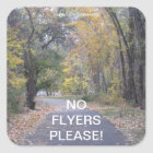 Trees Walk Path No Flyers Please Sticker