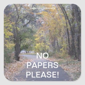 Trees Walk Path No Papers Please Sticker