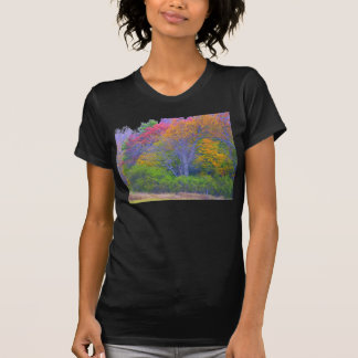 trees with abstract colours shirt