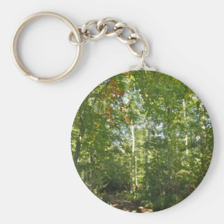 Trees with beautiful green leaves Key Chain