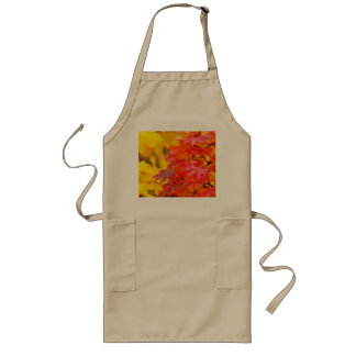 Trees with Orange and Yellow Leaves in the Fall Long Apron