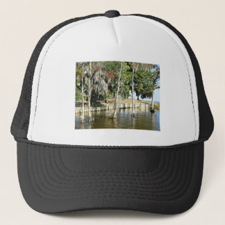 Trees with Spanish Moss, growing in water Trucker Hat
