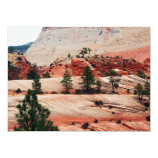 """Trees Within Sand Dunes 5.5"""" X 7.5"""" Invitation Card"""