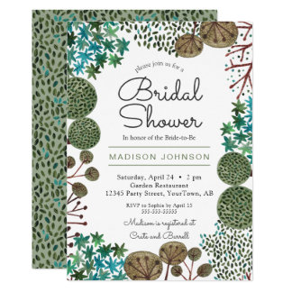 Trees Woodland Forest | Bridal Shower | Invitation