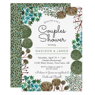 Trees Woodland Forest Couples Shower | Invitation