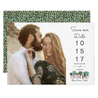 Trees Woodland Forest | Save The Date | Card