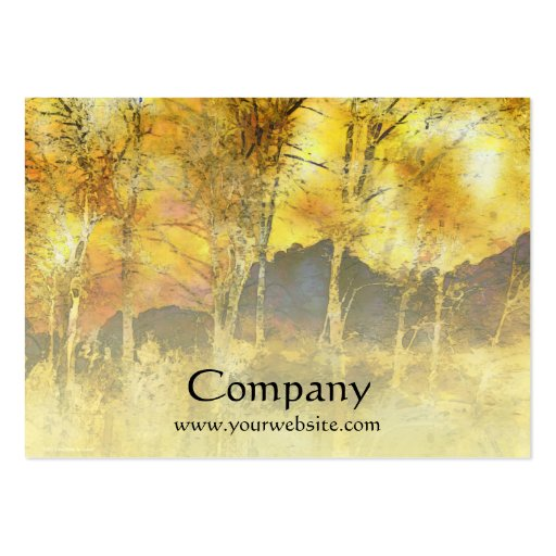 Trees Yellow Gold Business Card