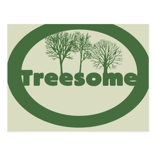 Treesome Postcard