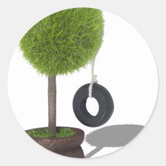 TreeSwing081510 Classic Round Sticker