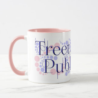 Treetangle Bubbles in Pink & Lavender Mug