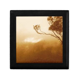Treetop and fog jewelry box