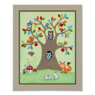 Treetop Friends Poster