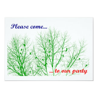 Treetop Party Card