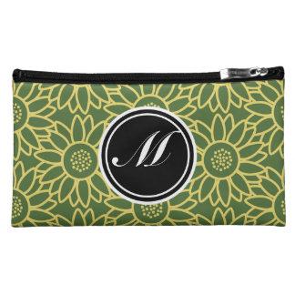 Treetop Sunflower Personalized Monogram Cosmetic Bag