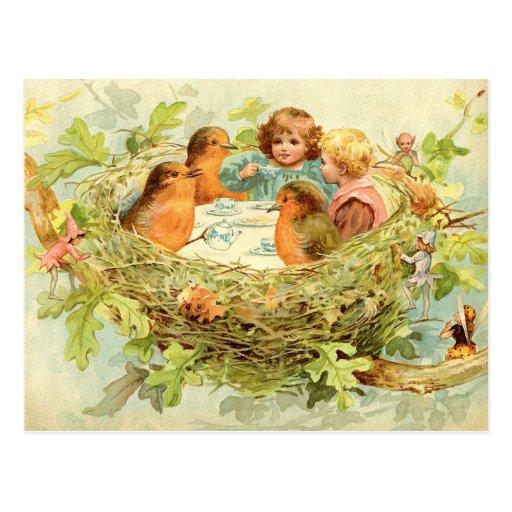 Treetop Tea Party Post Card