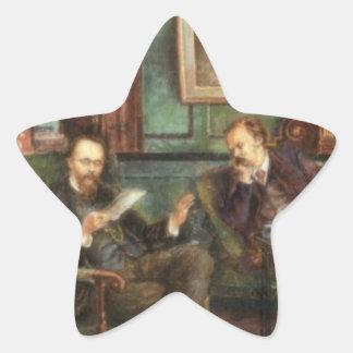 Treffry Dunn Rossetti & Dunton at 16 Cheyne walk Star Sticker