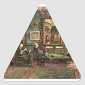 Treffry Dunn Rossetti & Dunton at 16 Cheyne walk Triangle Sticker