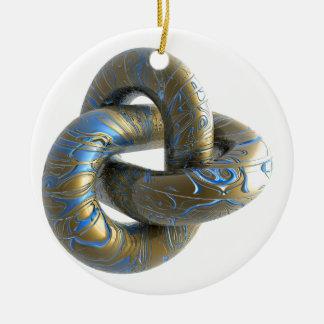 trefoil-685 ceramic ornament