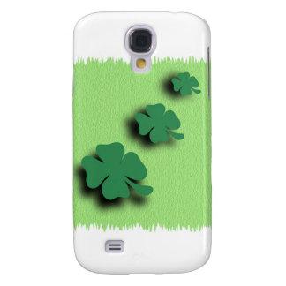 Trefoil symbol irish on the green background galaxy s4 case