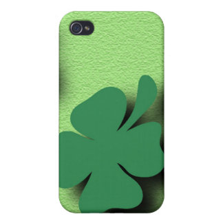 Trefoil symbol irish on the green background case for iPhone 4