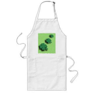 Trefoil symbol irish on the green background long apron