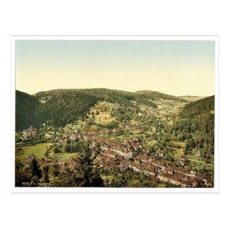 Treiberg from Dreikaiserfalsen, Black Forest, Bade Postcard