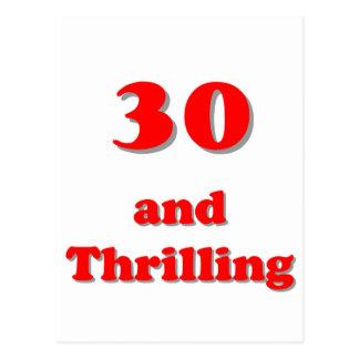 Treinta y cumpleaños chistoso de la edad que tarjetas postales