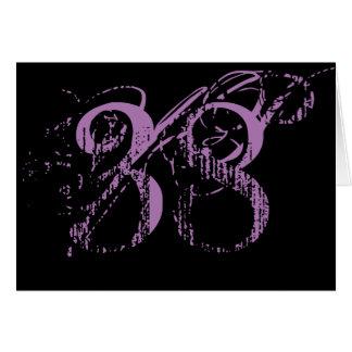 Treinta y ocho es la gran cosa, texto púrpura tarjeta de felicitación