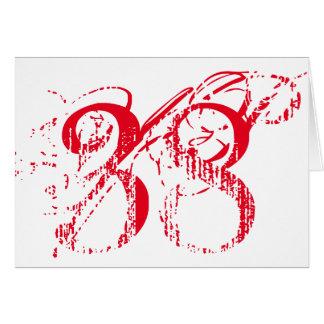 Treinta y ocho es una gran cosa, texto rojo grande tarjeta de felicitación