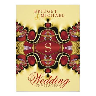 Trek Royale Satin Red+Creme Wedding Invitation