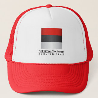 Trek Store Cincinnati Cycling Team white/red Truck Trucker Hat