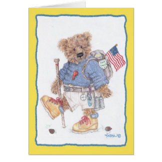 treking Woolly Greeting Card