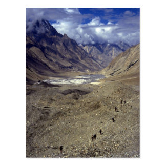 Trekking in the Karakorams, northern Pakistan Postcard