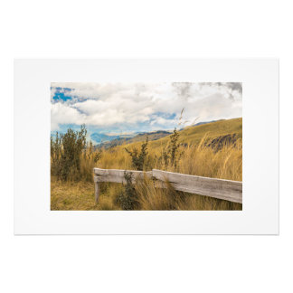 Trekking Road at Andes Range in Quito Ecuador Photo Print