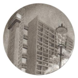 Trellick Tower original drawing Plate