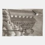 Trellick Tower original drawing Towels