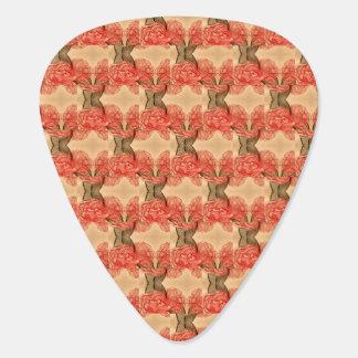 Trellis Cabbage Roses Guitar Pick