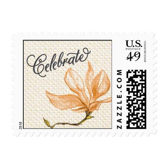 Trellis - Celebrate - 4C - Orange Postage