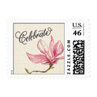 Trellis - Celebrate - 4C - Pink Postage Stamp