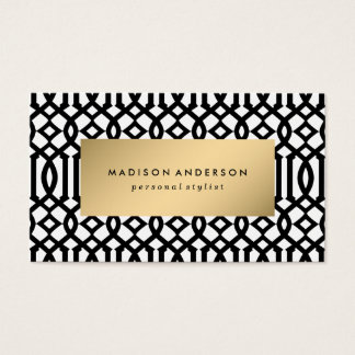 Trellis in Gold | Business Cards