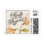Trellis - Kindly Respond - 4C - Orange Postage Stamp