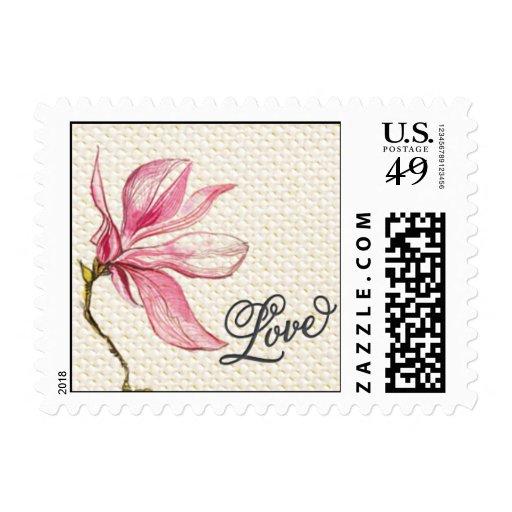 Trellis - Love - 4C - Pink Stamp