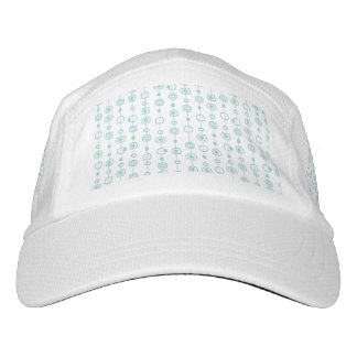 trellis,mint,white,modern,trendy,chic,cute,pattern headsweats hat