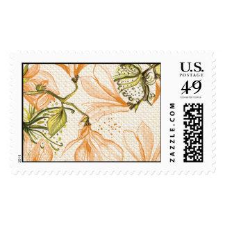 Trellis - Pattern - 4C- Orange Stamps