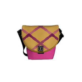 Trellis Pattern Messenger Bag