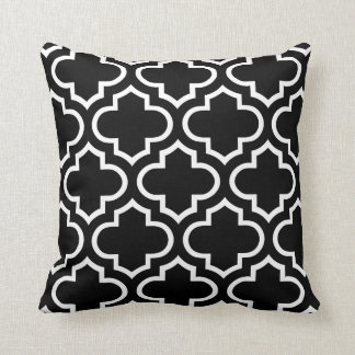 Trellis Pattern Pillow in Black and White