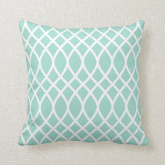 Trellis Pattern Pillow | Seafoam Green